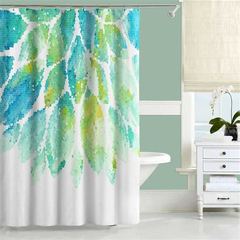 turquoise blue shower curtain turquoise shower curtain mint yellow blue and white shower