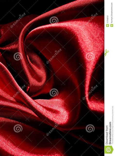shiny red fabric folds stock photography image