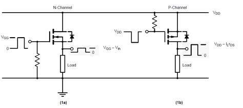 transistor fet n channel microcontroller any way to use n channel mosfet in p channel configuration electrical