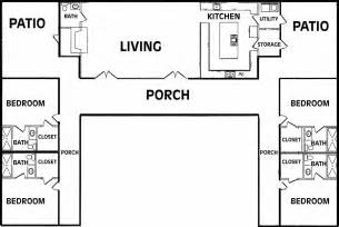 U Shaped Floor Plan House Plans Name U Shaped House Plans Single Level