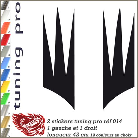 Sticker Tuning Moto by Stickers Tuning Auto Moto Flaming R 233 F 014 Autocollant