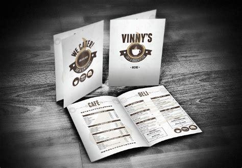 Vinny's Cafe & Deli Menu   Nate Smith Design