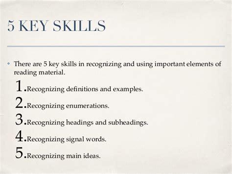 academic skills reading comprehension