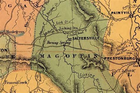 kentucky map civil war eastern kentucky and the civil war events in magoffin