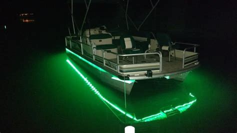 boat lights for pontoon anyone added led lights for night fishing bass fishing