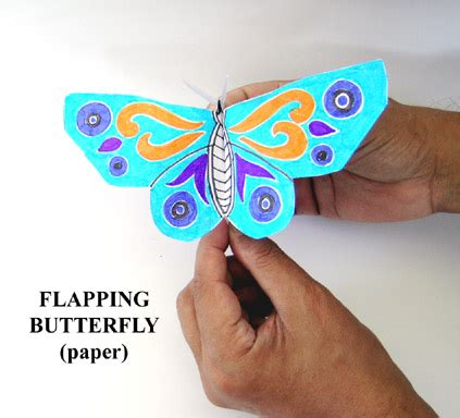 Flapping Butterfly Origami - toys from trash