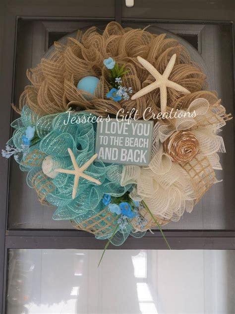 order beach deco mesh wreathdoor wreathfront