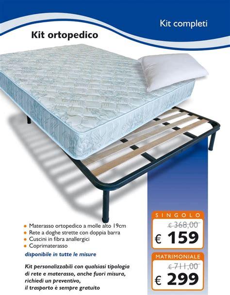 ste su cuscini kit ortopedico singolo 80x190 materasso rete cuscino