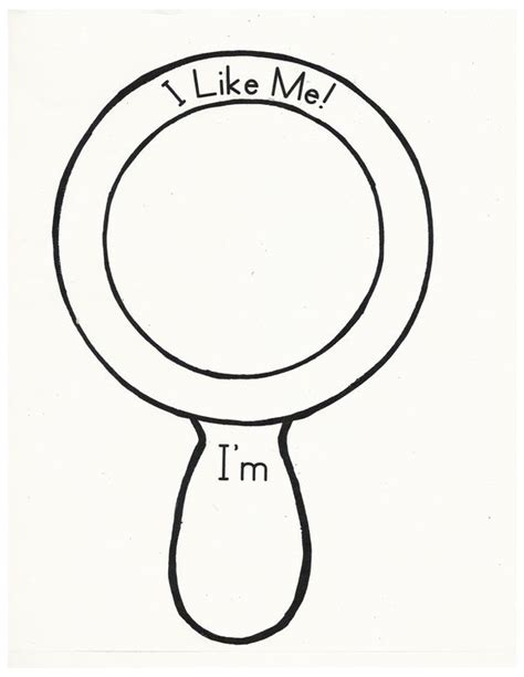 mirror will template i like me mirror template sketch coloring page