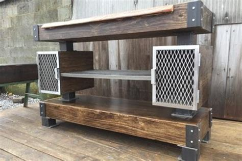 Pine Kitchen Islands rustic industrial wine bar buffet table the industrial