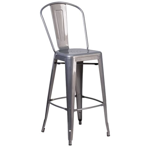 Stackable Bar Stools With Backs by Flash Furniture Xu Dg Tp001b 30 Gg Clear Coated Stackable