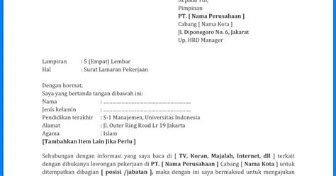 contoh surat lamaran garuda indonesia wiki edukasi