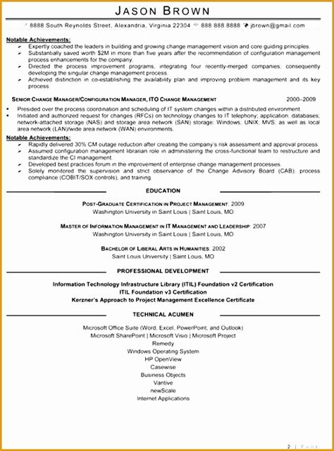 technical resume format free 7 information technology resume templates free sles