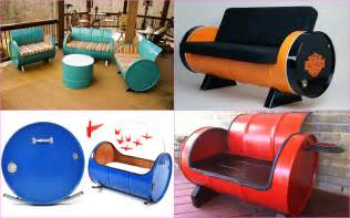12 ways to recycle oil barrels into winsome furniture