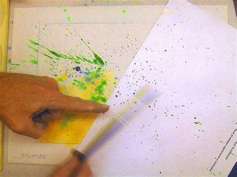 watercolor texture tutorial watercolor techniques splatter spray watercolor