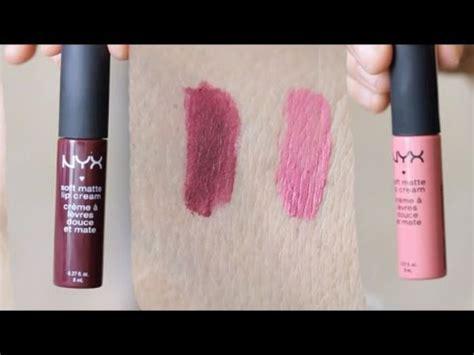 nyx matte milan nyx soft matte lip copenhagen and milan simply