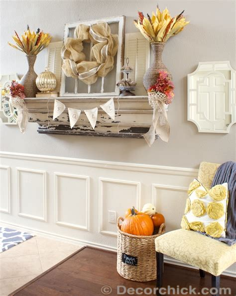 fall mantel decorating ideas 2013 rustic and textured fall mantel decorchick