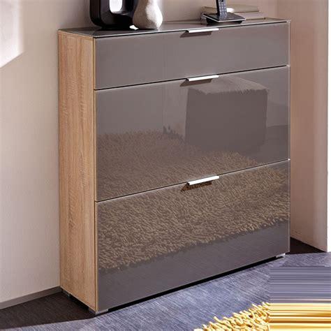 shoe storage cabinet canada perla shoe cabinet in canadian oak and graphite glass 18296