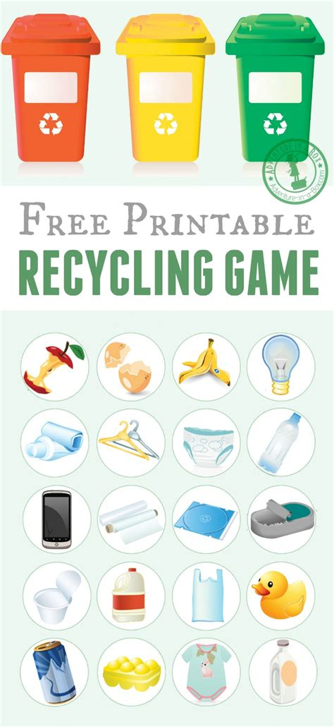 printable recycling images printable recycling game recycling games free printable