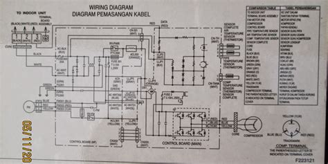 Ac Indoor Baru wiring diagram modul ac split wiring diagram with