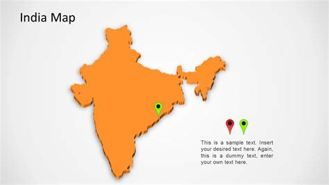 India Map For Powerpoint Slidemodel India Map Ppt