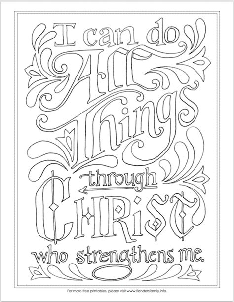 Coloring Page For Philippians 4 13 by Quot I Can Do All Things Quot Coloring Page Flanders Family Homelife