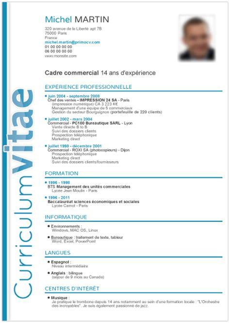 Modele Cv Cadre Gratuit by Modele Cv Cadre Cv Anonyme