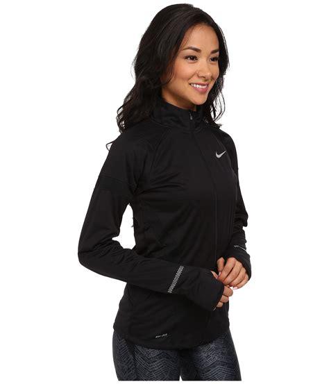 Nike Zipper Jaket lyst nike element shield zip jacket in black