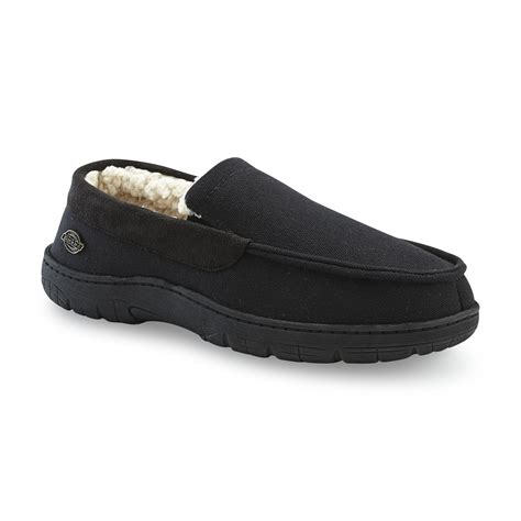 dickies and house shoes dickies men s black moccasin slipper shoes men s shoes men s slippers