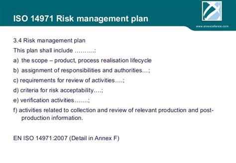 risk management of medical devices regarding