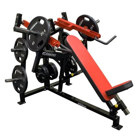 plate loaded bench press pro series olympic incline bench legend fitness
