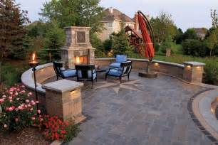 Exceptional patios with fireplaces outdoor patio with