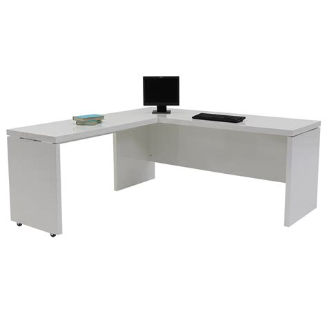 white l shaped office desk sedona white l shaped desk made in italy el dorado furniture