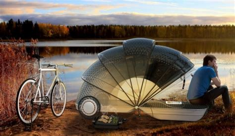 Bicycle Sleeper Trailer bike cer concept is a trailer shelter hybrid psfk