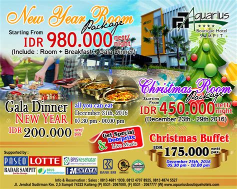 new year dinner package 2016 new year room package and gala dinner aquarius boutique