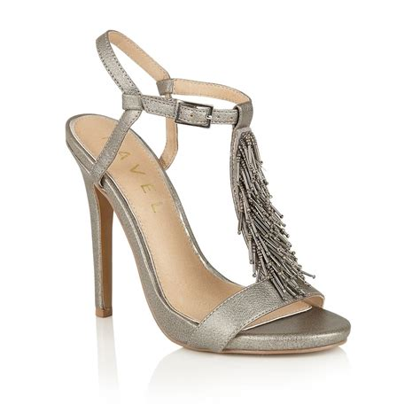 pewter sandals buy ravel cleveland heeled sandals in pewter