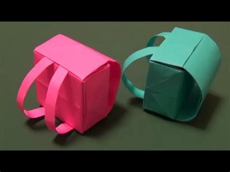 Origami Backpack - ランドセル 立体折り紙 quot backpack quot origami