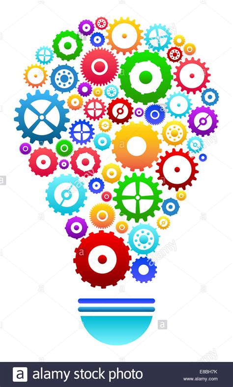 images ideas idea light bulb with gears and cog wheels concept stock