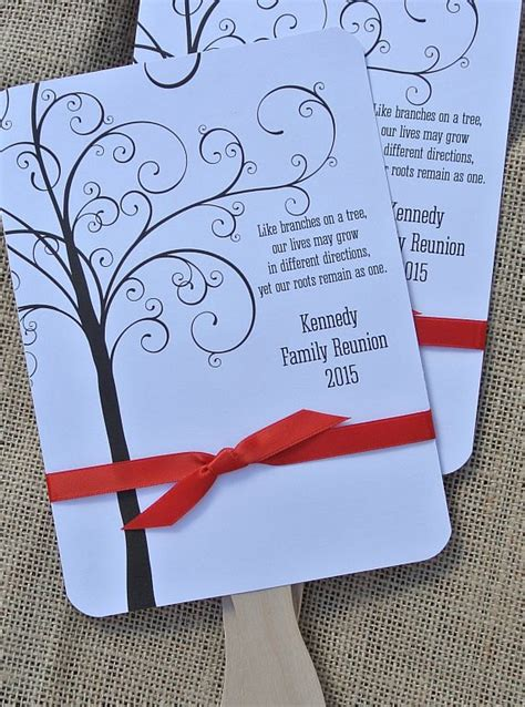 Reunion Giveaways - family reunion favors custom fans family by abbeyandizziedesigns