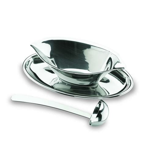 gravy boat with spoon gravy boat luxe with a spoon of lacor
