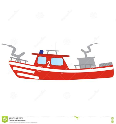 fire boat cartoon lifeboat cartoons illustrations vector stock images