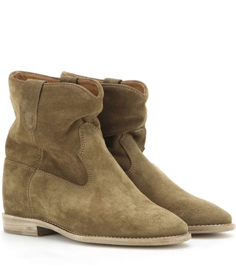 isabel marant boots sale isabel marant toile crisi suede ankle boots in brown lyst