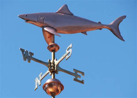 The Weathervane Great White Shark Weathervane