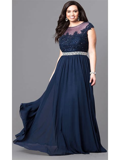 navy beaded evening dress navy illusion neckline beaded lace plus size prom