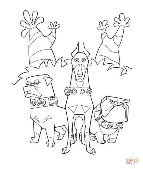 dog team coloring page alpha beta and gamma dogs coloring page free printable