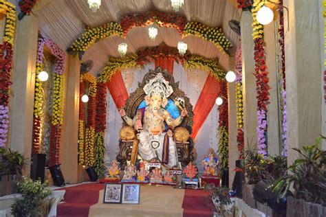 decoration for ganesh festival at home ganesh background decoration images