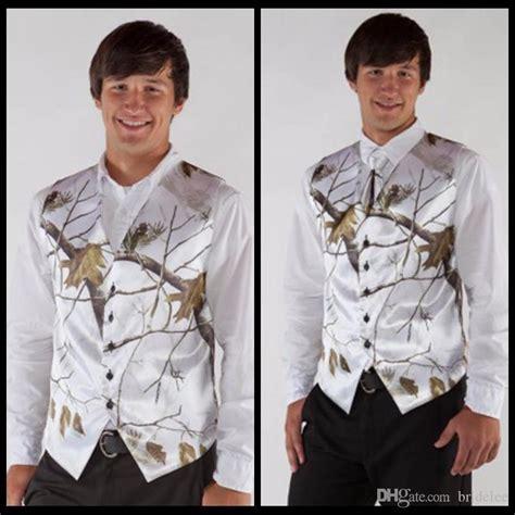 Mens Wedding Attire Vests by 2017 V Neck Camo Mens Wedding Vests S Wedding