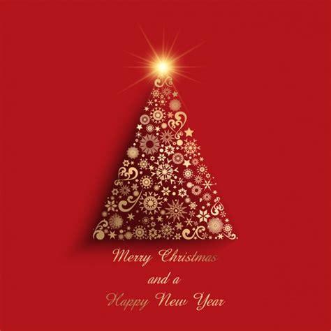 goldener weihnachtsbaum geometrische goldenen weihnachtsbaum auf einem roten