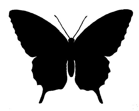 free clipart silhouette the graphics monarch free butterfly silhouette image