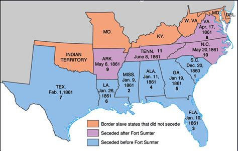 southern states map history with rivera 3 21 13 secession
